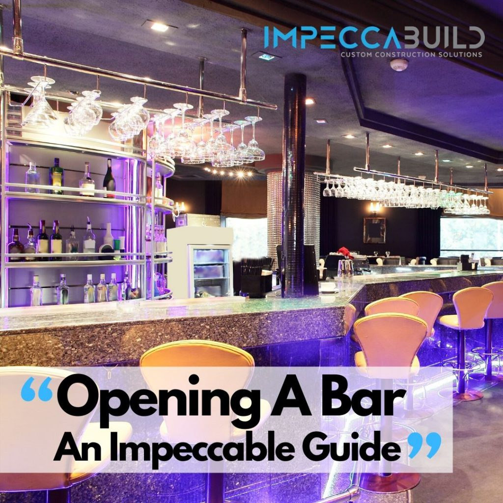 Opening A Bar In Sydney | Bar Layout Design-Bar Marketing | Bar Business Plan | ImpeccaBuild